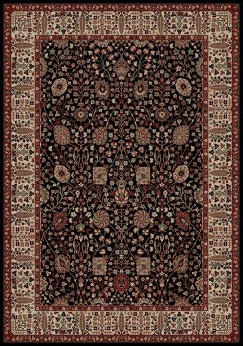 Oriental Classics Vase Black Rug Rug Size: 3'11