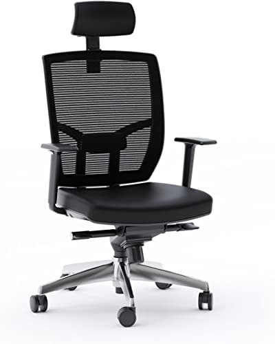BDI Office Chair, Black Leather