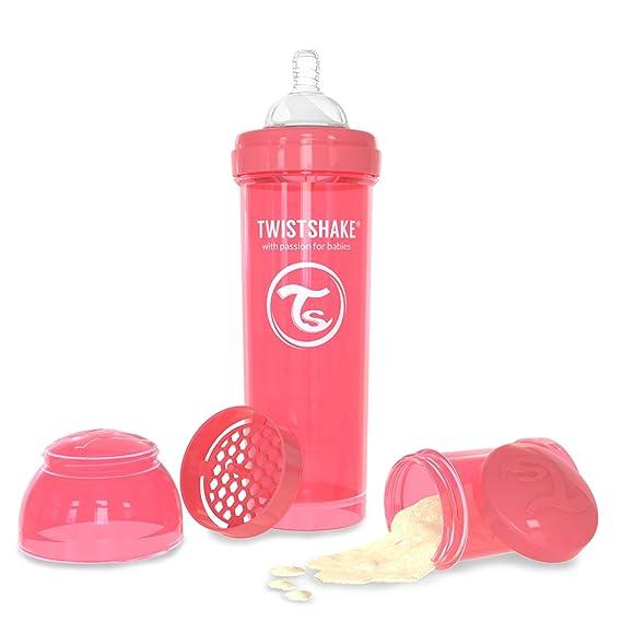 Twistshake - Biberón anticólico tetina silicona (330 ml.) rosa ...