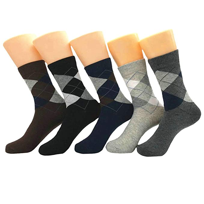 Beydodo Calcetines Rombo Hombre Colorido Calcetines Hombre Calcetines Media: Amazon.es: Ropa y accesorios
