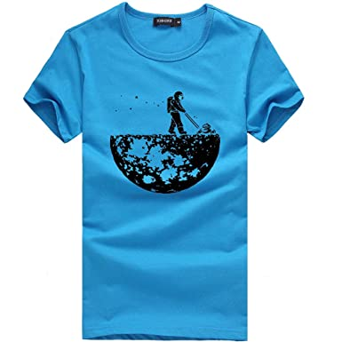 HWTOP Unisex T Shirt Damen Herren Printing Tees Shirt Kurzarm Bluse