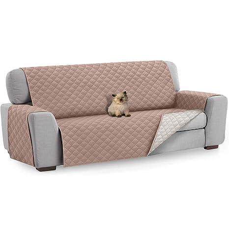 FREESOO Funda para Sofá 3 Plazas Funda Cubre Sofá Protector de Sofás para Perros Gatos Protector para Sofás Acolchado Reversible Cubierta para Sofa ...