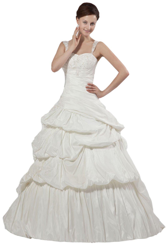 Albizia Sweetheart Court Train Pleated Maternity Wedding Dresses(22,White)
