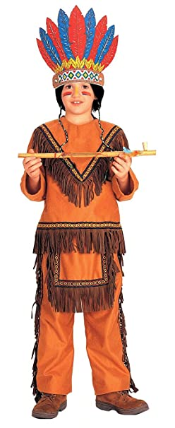 Rubieu0027s Native American Boy (Light Brown) Child Costume Size Small  sc 1 st  Amazon.com : native american kids costumes  - Germanpascual.Com