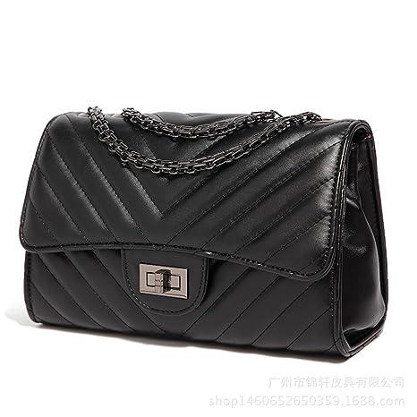 0e5fa2318778 Women Fashion Shoulder Bag Jelly Clutch Handbag Quilted Crossbody Bag with Chain  Black
