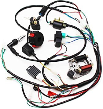 Amazon.com: Full Electrics Wiring Harness CDI Coil Magneto Stator 50cc 70cc  90cc 110cc 125cc Quad ATV Bike: Automotive