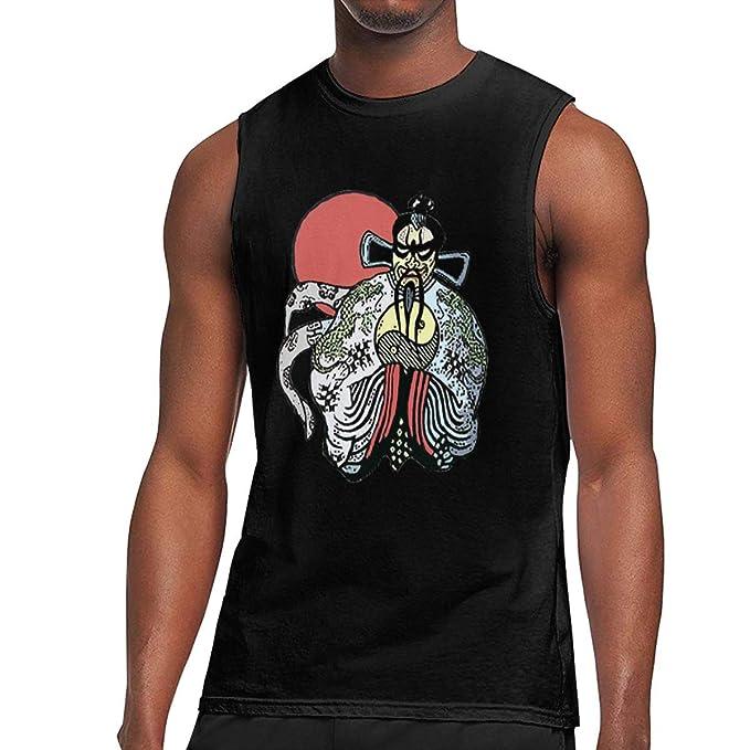 Amazon.com: Fretlo - Camiseta sin mangas para hombre, diseño ...