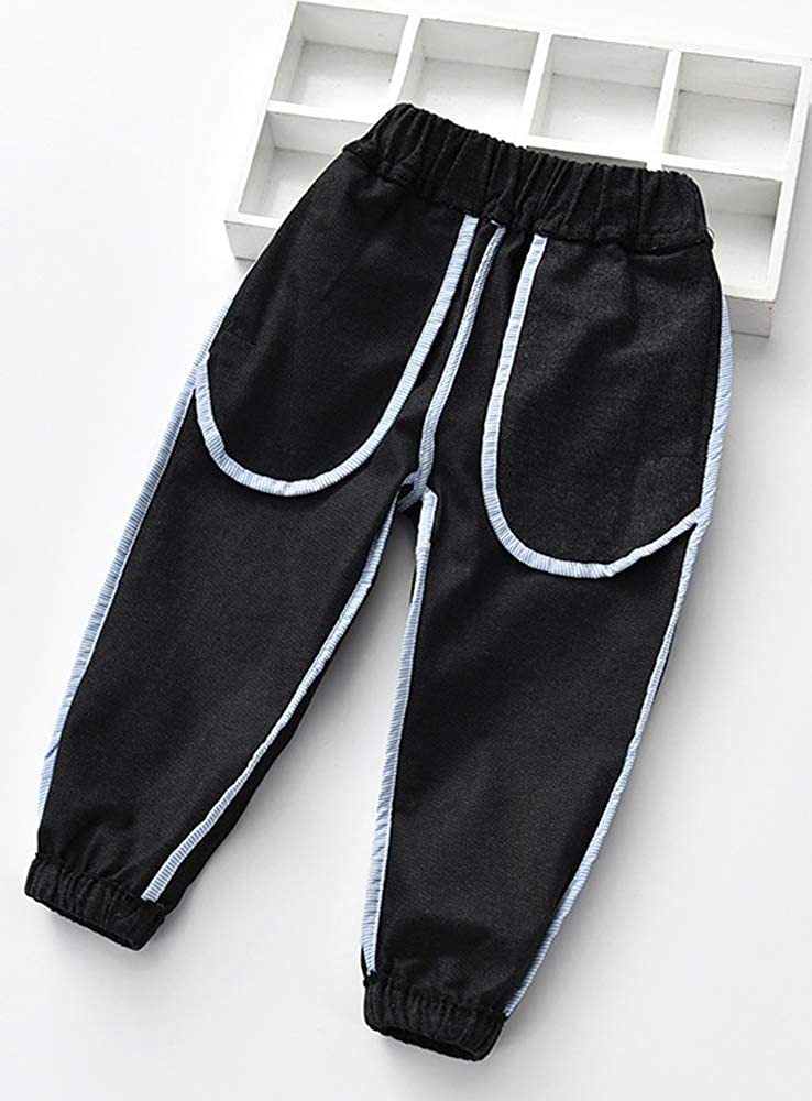 EileenDor Womens Elastic Waist Childrens Casual Pants Comfortable Breathable Boy//Girl Trousers Cotton Linen