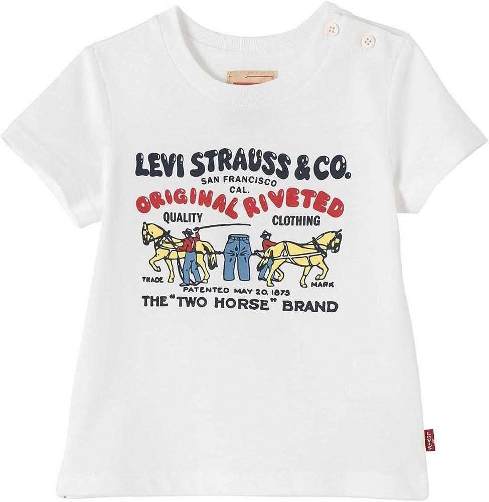 LEVIS Maglietta T-shirt Horses Neonati Bianco 18ENL10074-01: Amazon.es: Ropa y accesorios