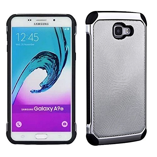Slim Fit Hybrid Shockproof Case for Samsung Galaxy A9 (Silver) - 3