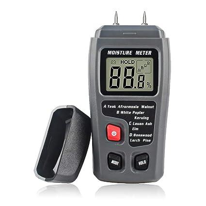 CTlite Medidor de humedad de madera, medidor de humedad digital, detector de fugas de