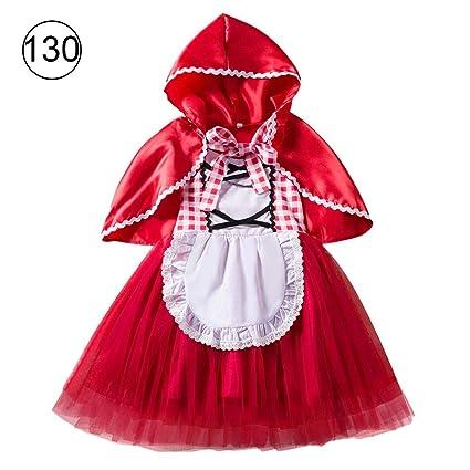 Para NiñosHalloweenCaperucita Roja Azsurely Disfraz Navidad De R4L53Aj