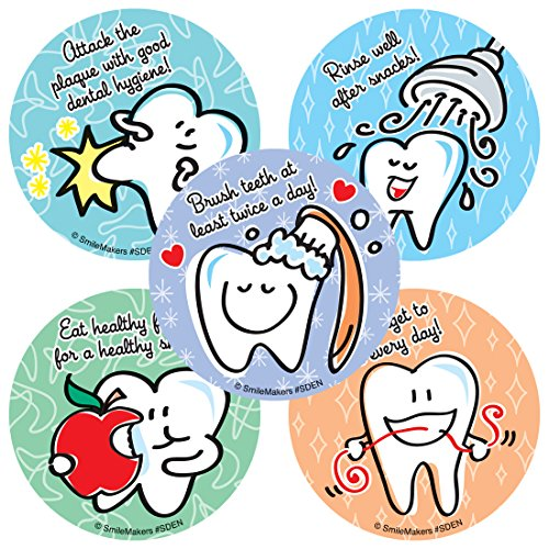 Simple Dental Stickers - Prizes 100 per Pack