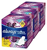 Always Radiant Teen Pads Get Real Regular, 14-Count (Pack of 3) Always Radiant Teen Pads Get Real Regular, 14-Count (Pack of 3)