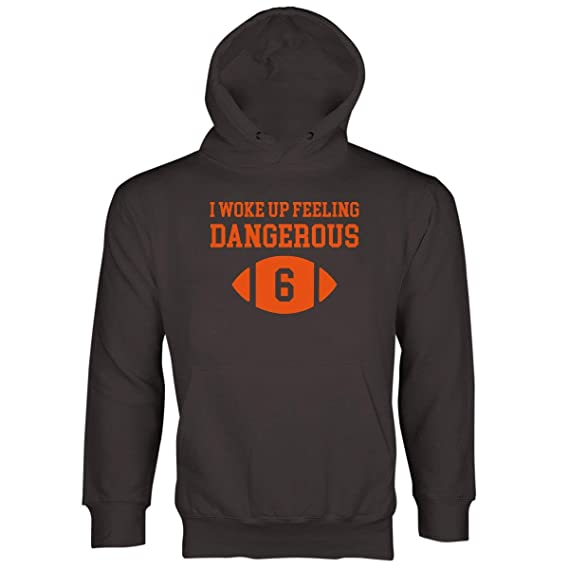 Baker Mayfield Dangerous Hoodie I Woke Up Feeling Dangerous Hoodie at Amazon  Men s Clothing store  e113963e1