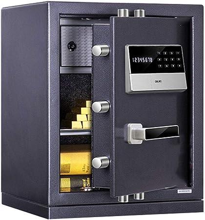 Caja fuerte con contraseña electrónica Dormitorio de Seguridad gabinete de cabecera Arma de Seguridad Joyas, Llave + desbloqueo de contraseña (Color : Black, Size : 38 * 32 * 48cm): Amazon.es: Hogar