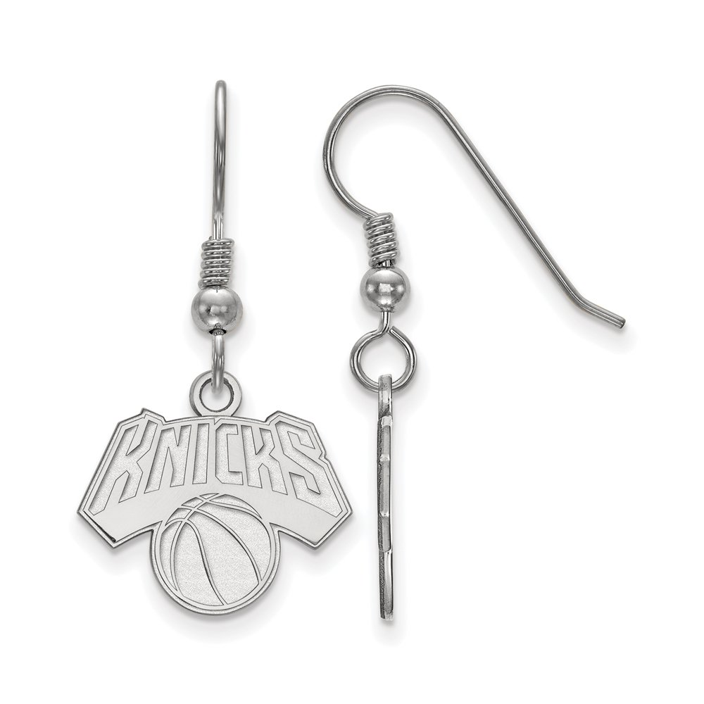 NBA New York Knicks Small Dangle Earrings in Sterling Silver