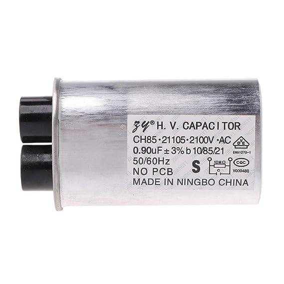 AC 2100V - Condensador HV para horno microondas (0,90 μF): Amazon ...