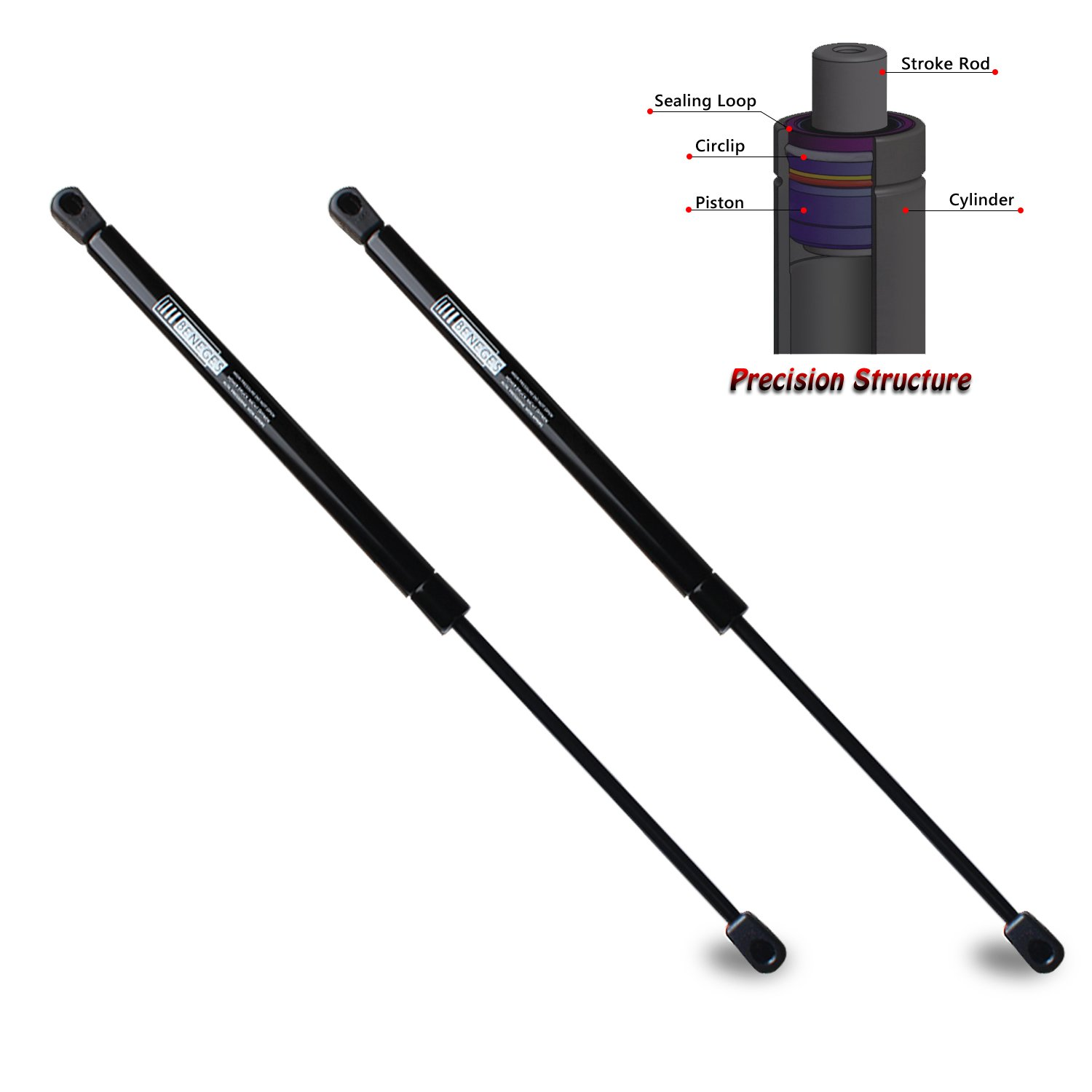 SG467015 PM3062 Beneges 2PCs Trunk Lift Supports Compatible with 2008-2012 Hyundai Sonata Rear Trunk Struts Shocks Dampers Gas Charged Springs 817710A000