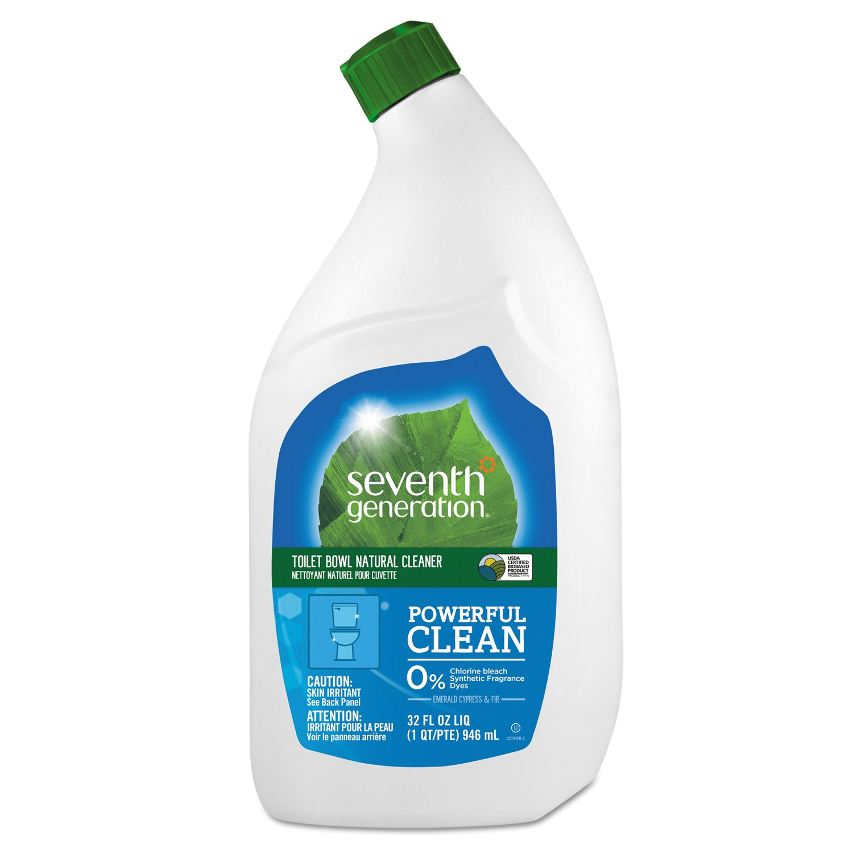 Seventh Generation 22704CT Natural Toilet Bowl Cleaner, Emerald Cypress & Fir, 32 oz Bottle (Case of 8)