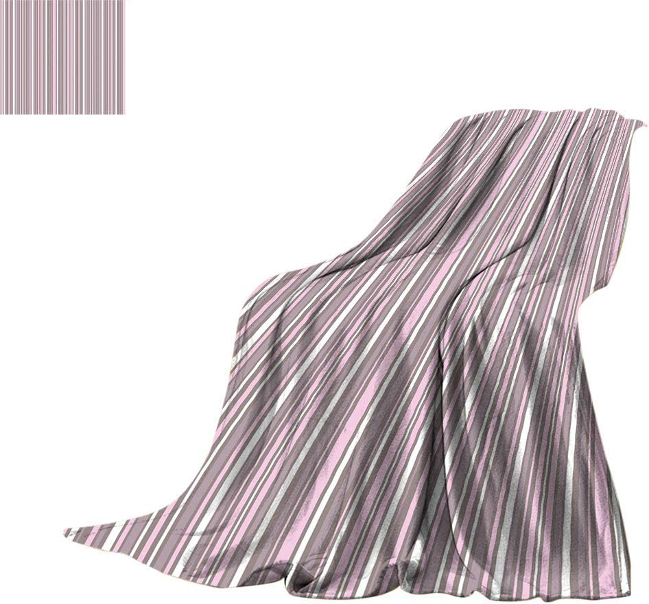 Amazon Com Exotidecor Geometric Custom Print Blanket Stripes Pattern Modern Art Inspired Abstract Geometric Vertical Lines Breathable Thermal Throws Blanket Travel 60 X 36 Warm Taupe Pink White Home Kitchen