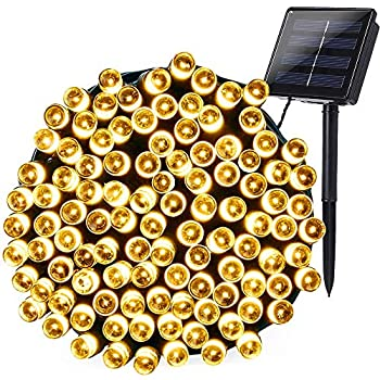 Joomer Solar String Lights 72ft 200 LED 8 Modes Solar Powered Christmas Lights Waterproof Decorative Fairy String Lights for Indoor Outdoor Decorations ...
