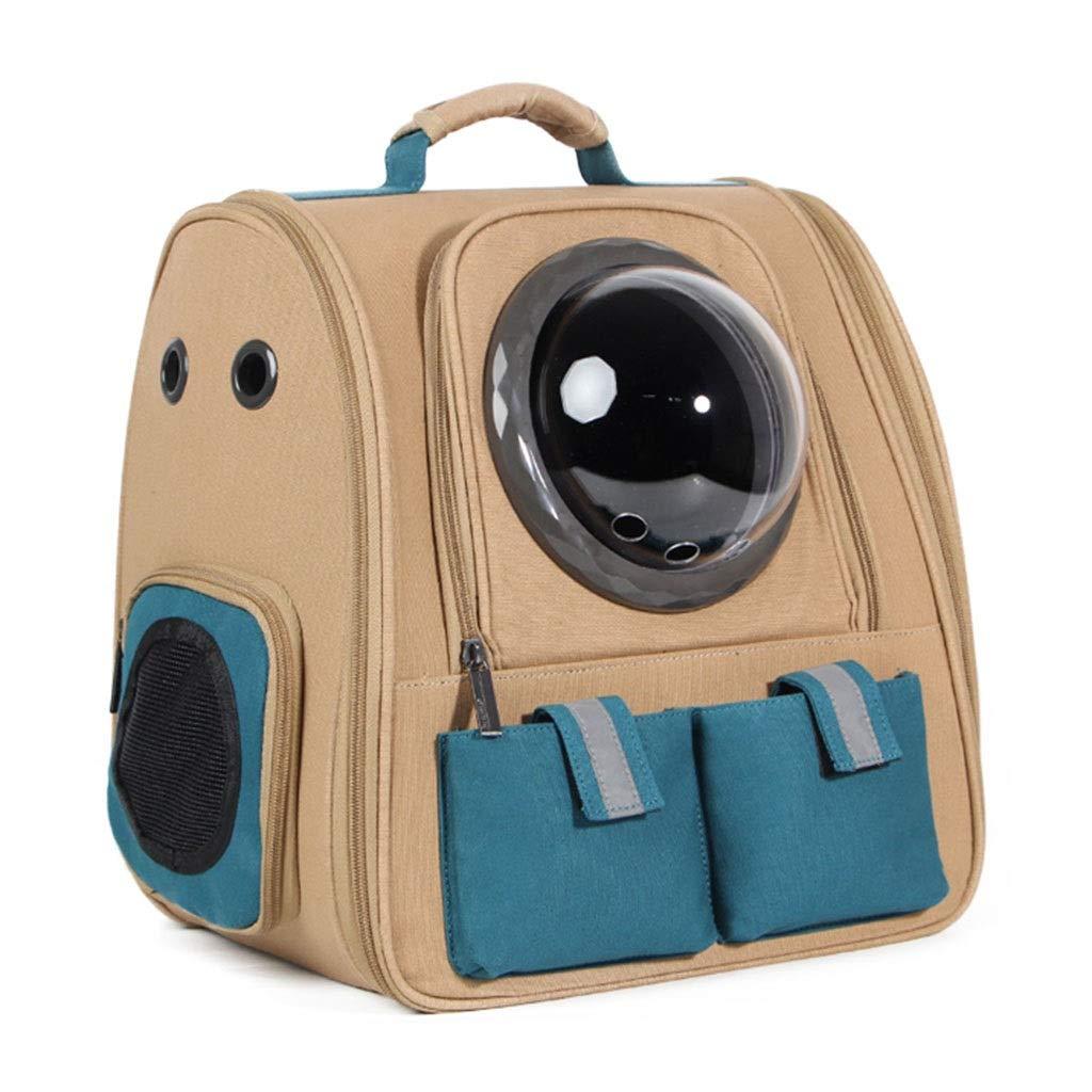 Khaki 283840cm Khaki 283840cm Backpacks & Slings Cat Outing Bag Dog Space Capsule Portable Pet Backpack Cat Cage Home Pet Box Foldable Pet Nest Multi-function Car Pet Bag Load 10KG (color   Khaki, Size   28  38  40cm)