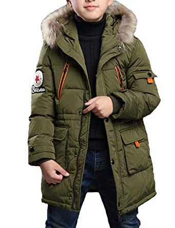 various colors 10abc f6798 Belloo Jungen Wintermantel Lange Winter Jacke Kinder Parka Warme Steppjacke  mit Kapuze
