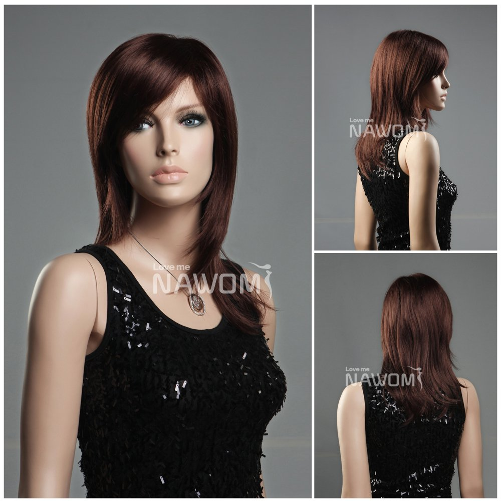 Amazon WG ZL349A 33 Long Straight Hair Wig Auburn Red Color Health Personal Care