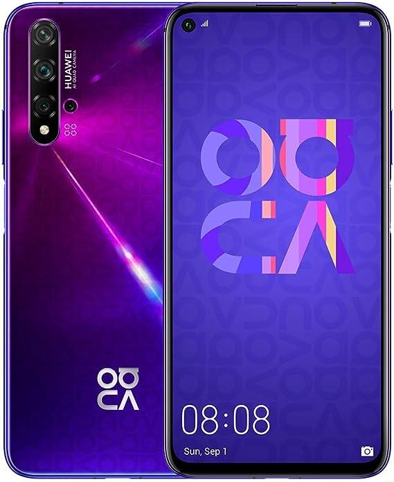 "Amazon.com: Huawei Nova 5T (128GB, 8GB) 6.26"" LCD, Kirin 980, 48MP ..."