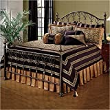 Hillsdale Furniture 1332BQR Huntley Bed Set with Rails, Queen, Dusty Bronze