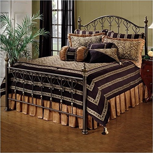 Full Size Set Footboard (Hillsdale Furniture 1332BFR Huntley Bed Set with Rails, Full, Dusty Bronze)