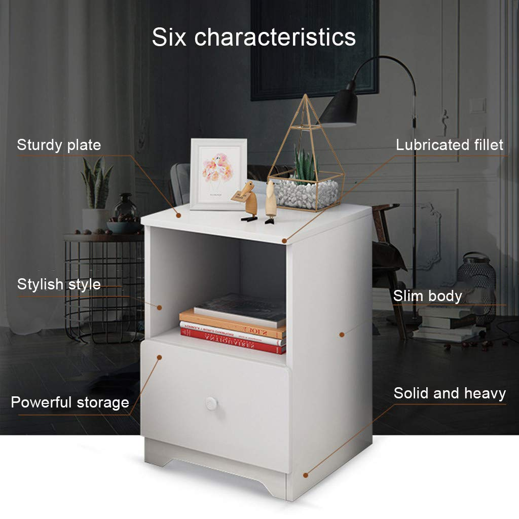 Nordic Pine Color Sallymonday Imported Smart /& Stylish Design Nightstand with Double Drawer Slim Bedside Table Large Countertops Assemble Storage Cabinet Bedroom Bedside Locker