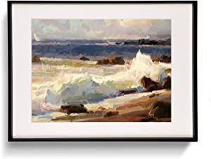 FUXTUYYR Wall Art for Living Room Canvas Art Wall Decor Sea Water Natural Scenery Canvas Print Picture Modern Colorful Paintings for Bedroom Office Decoration Ready to Hang