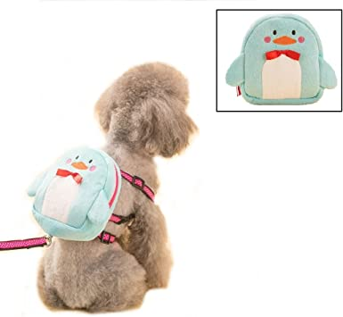 Stock Show Pet Dog Cartoon Backpack Harness with Leash