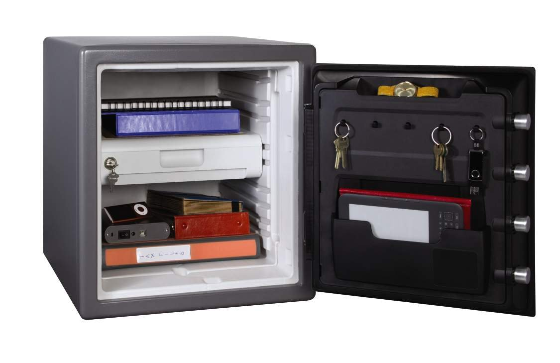 SentrySafe Fire and Water Safe, Extra Large Touchscreen Safe with Dual Key Lock and Alarm, 1.23 Cubic Feet, SFW123UDC