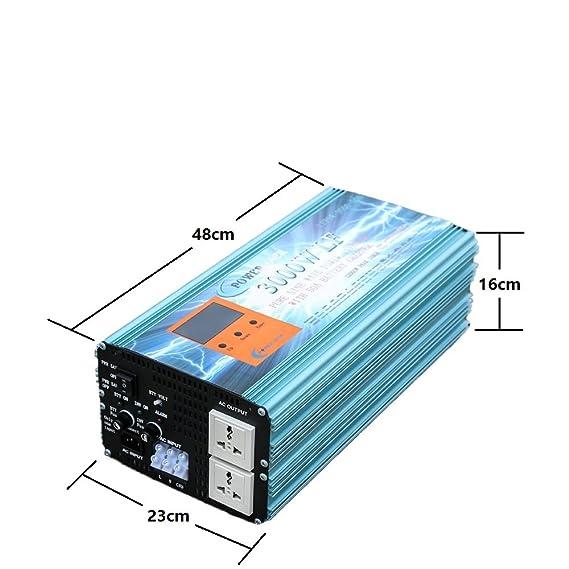 Inversor Onda Pura 3000W Cargador 50Amp 12V to AC 230V Pure ...