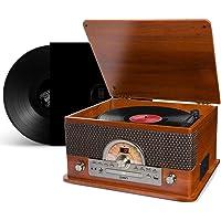 Radio Toca Discos Vinil Vintage Retro Bluetooth Fita Cassete Vitrola CD Pen Drive FM Usb
