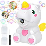 Apfity Bubble Machine for Kids, Automatic Bubble Maker Machine Toy for Boy Girl Toddlers, Unicorn Portable Bubble Blower with