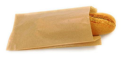 1000 Bolsas papel kraft para bocadillos 14+6x27: Amazon.es ...