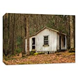 Bedroom Canvas Print Tennessee Photography Smoky Mountain Art 'Elkmont Cottage'