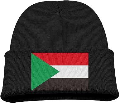 JXC-L Sudan Flag Hats Cute Soft Knit Beanie Caps for Kids Unisex