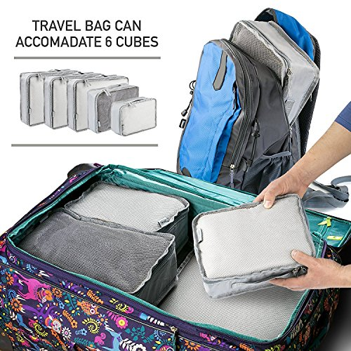 5 Set Packing Cubes - Travel Luggage Packing Organizers with Laundry Bag - Packing Cube by Isperi by Isperi (Image #4)