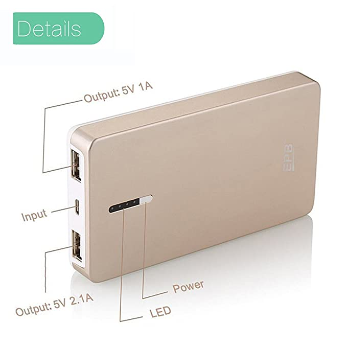 51236cd46 Amazon.com  EPB 8000mAh External Battery Power Bank Portable Charger Backup  Pack with Powerful Dual USB Output for Samsung