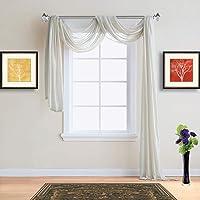 "Warm Home Designs Pair 2 Standard Size 54"" (Width) x 84"" (Length) Sheer Window Curtains. - Karina"