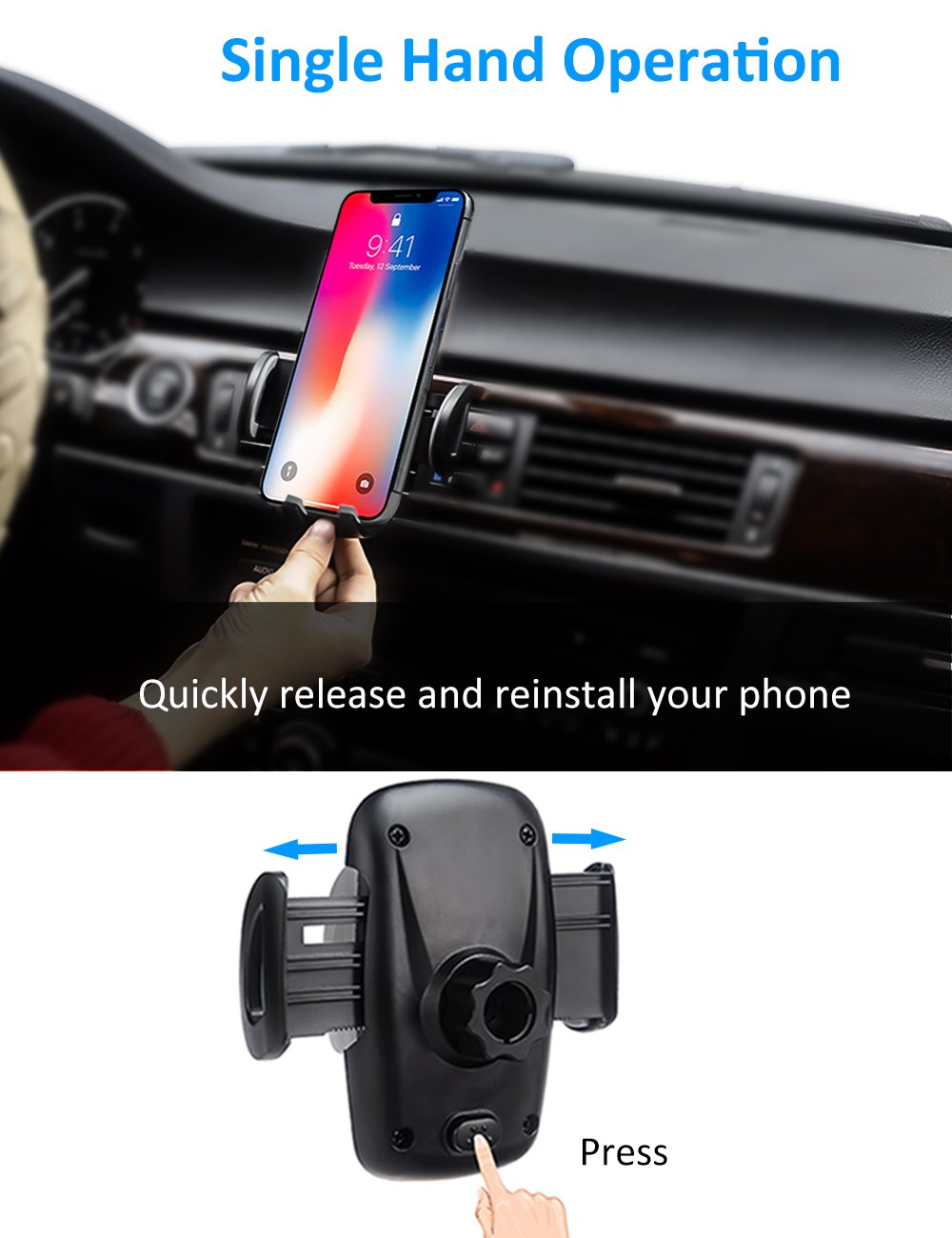 woleyi Car Vent Mount Air Vent Clip - Car Holder for Cell Phones and GPS by woleyi (Image #3)