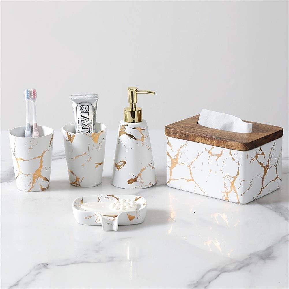 Accessoires de salle de bain, Céramique de luxe en marbre de style