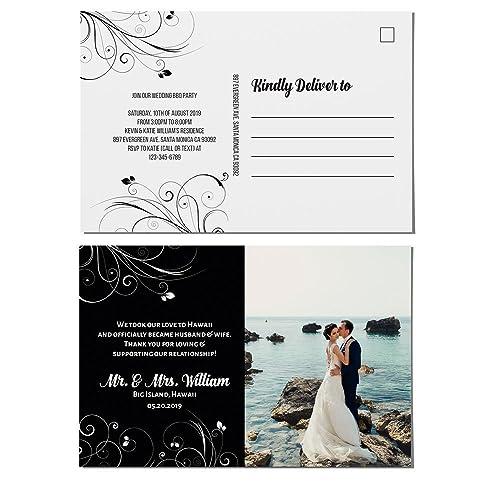 amazon com elopement announcements postcards custom wedding