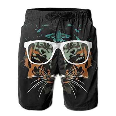 ZAPAGE Boys Quick Dry Board Shorts Pineapple With Leaf Bathing Suits Swim Trunks With Pockets