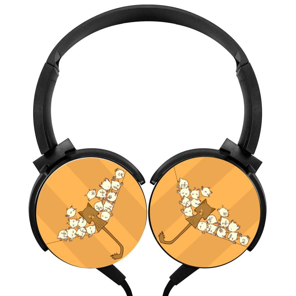 本物品質の イエローキャットヘッドフォン3Dプリントオーバーイヤー軽量ヘッドホン キッズ/メンズ B07GZBLZY1/レディース B07GZBLZY1, 正規品販売!:ef4622e5 --- nicolasalvioli.com